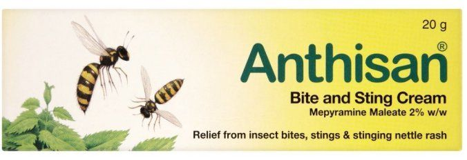 Medicines Anthisan Cream X 25g Anthisan Cream provides relief from insect bites, stings and nettle rash.Contains Mepyramine Maleate 2 ww.Anthisan Cream should be applied directly to the site of the insect bite, insect sting or stin http://www.MightGet.com/january-2017-11/medicines-anthisan-cream-x-25g.asp
