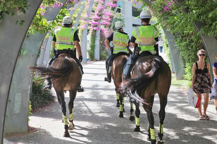 On patrol in South Bank, Brisbane