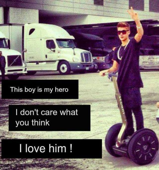 Ya to all u haters out there I don't care what u think I want to tell the world I love Justin Bieber so much I am a belieber for life!!!!!!!!!