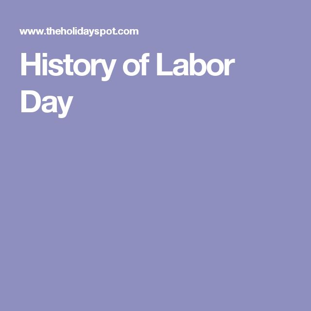 an introduction to the history of labor day Noun a day's labor should get the job done getting the job done will require many hours of difficult labor he rested from his labors the cost of repairing the car includes parts and labor.