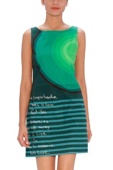 Mi piace il verde!!! Vestito desigual verde.