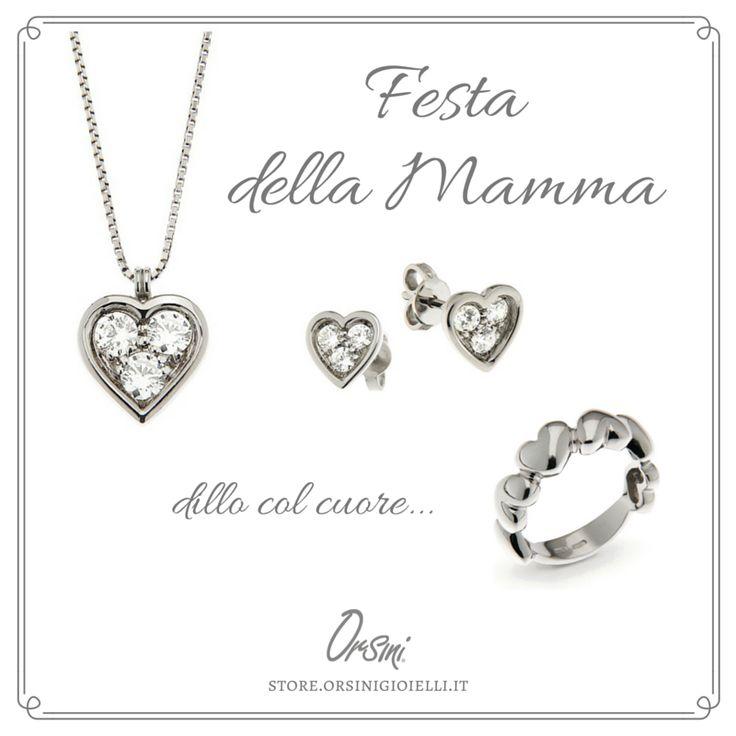 Dillo col cuore... Felice Festa della Mamma ❣ Trova tra anelli, orecchini e ciondoli in #argento, il regalo perfetto ❣  #HappyMothersDay