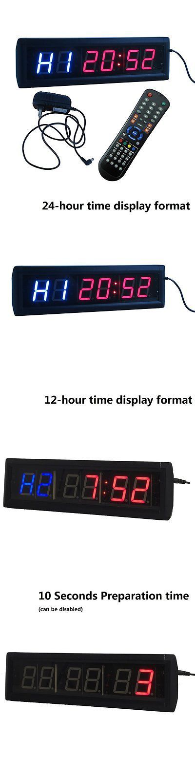 Stopwatches 166149: Ledgital Crossfit Interval Timer Stopwatch Wall Clock W/ Ir Remote BUY IT NOW ONLY: $111.17