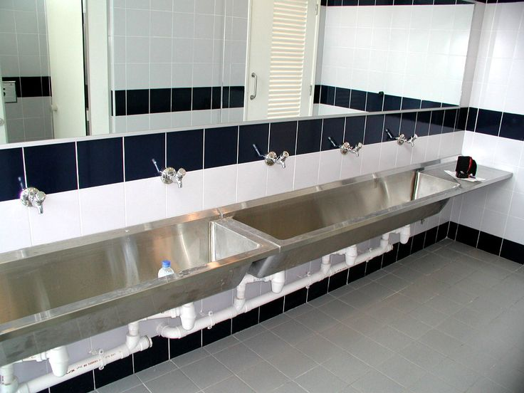 Marvelous Stainless Steel Bathroom Sinks For Commercial Areas | Home Ideas |  Pinterest | Metal Trough, Sinks And Trough Sink