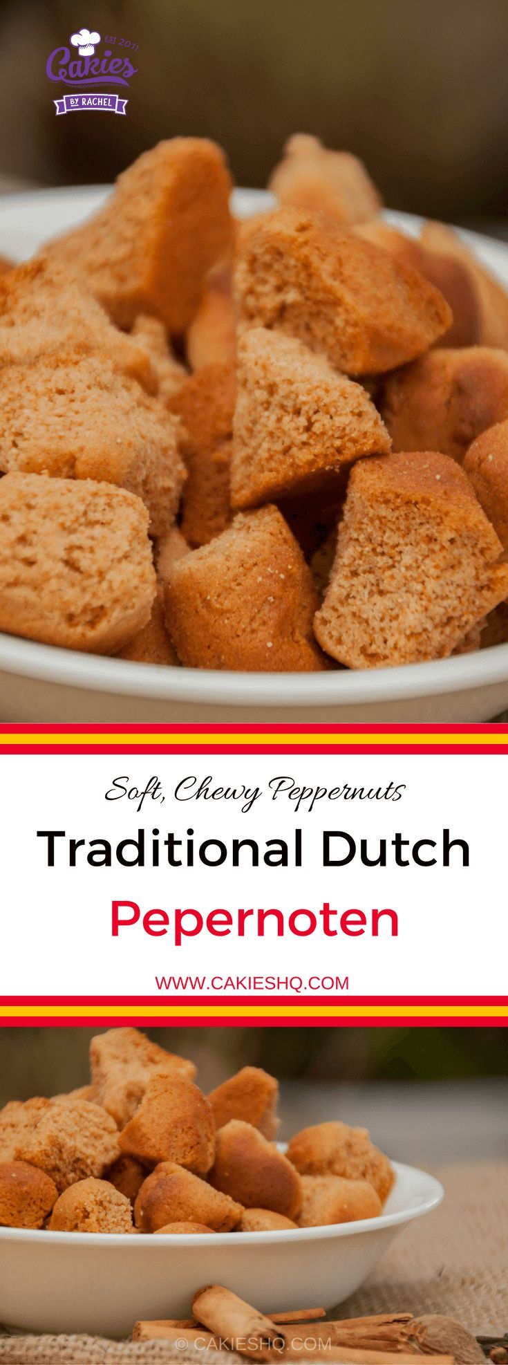 Traditional Dutch Pepernoten are more soft and chewy versus the crunchy pepernoten. A nice recipe for Sinterklaas, Thanksgiving or Christmas  #dutch #dutchrecipe #dutchfood
