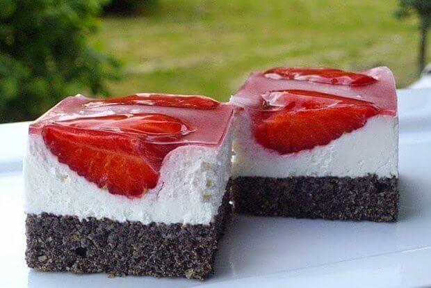 koláč s jahodami