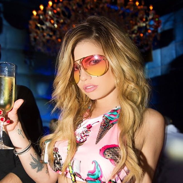 #ChampagneMami ✨  Chanel West Coast     GET THE LOOK:  http://www.dollskill.com/ice-cream-print-high-waisted-set.html