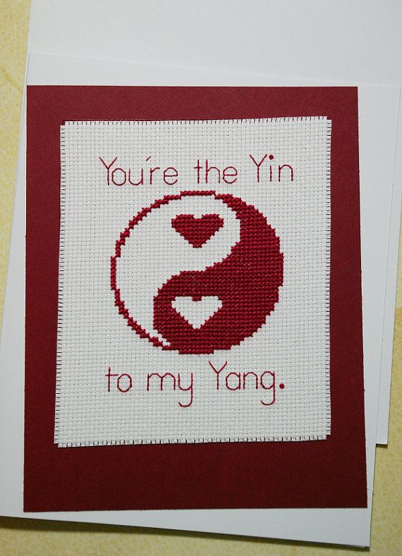 You're the Yin to My Yang Greeting Card by BlueTopazStitchery, $9.00