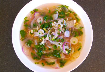 A spicy-pungent breakfast broth like this can be just the thing to get kapha going first thing in the morning, or whenever that first pang of morning hunger hits. #recipe