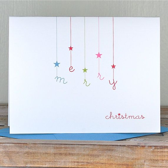 Christmas Card .  Holiday Card Set .  Personalized Christmas Cards - Falling Stars