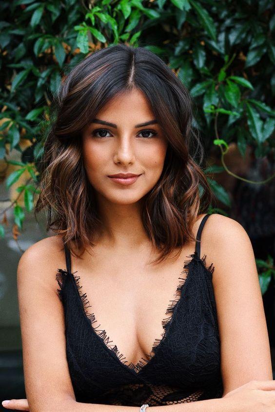 46 shoulder-strung hairstyles that make you crazy #dresses #lay # make # shoulder length #printed