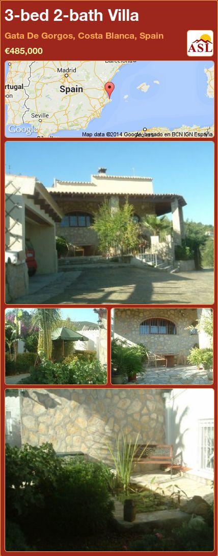 3-bed 2-bath Villa in Gata De Gorgos, Costa Blanca, Spain ►€485,000 #PropertyForSaleInSpain