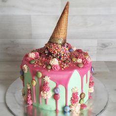 chocolate ganache on ice cream cake - Google Search