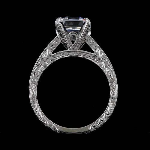 Cathedral Vintage Style Reproduction Diamond Asscher by OroSpot