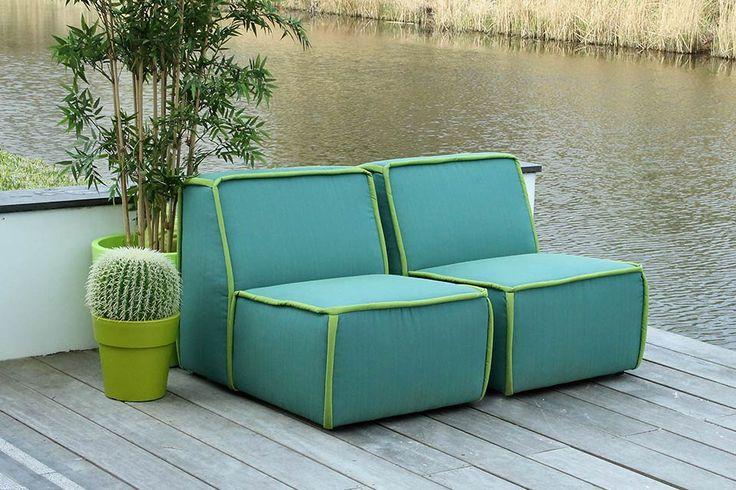 De salsa lounge element loungestoelen van outdoor living hebben een kleurrijke en moderne - Moderne hoek lounge ...