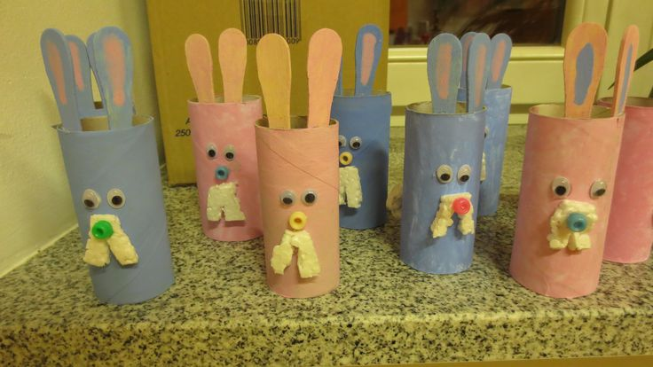 Velikonočni zajci, easter bunnies craft