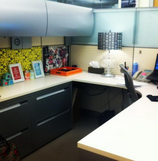 87 best images about cubicle space on pinterest office for Creative office decorating ideas