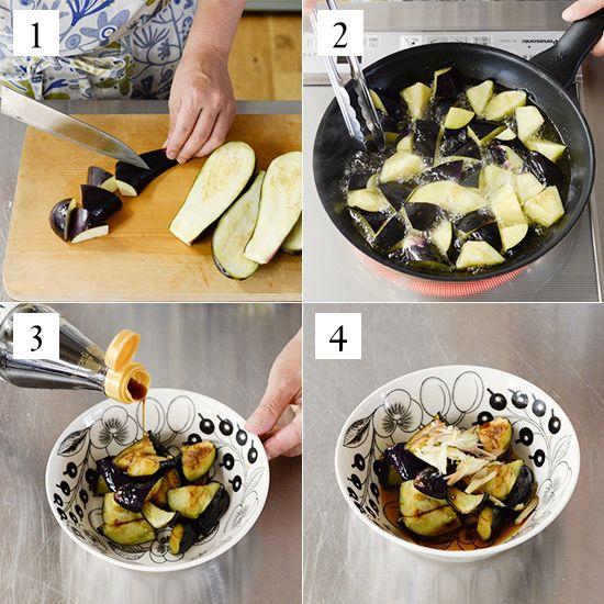 常備菜「塩なす」とそのアレンジレシピをご紹介シンプルな材料と簡単な手順で人気の、料理家・フルタヨウコさんに教わる定番レシピの連載です。本日からは、なす・豚肉・ネギという定番食