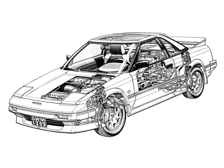 1985-89 Toyota MR2 (EU specs) - Illustrated by Terry Davey