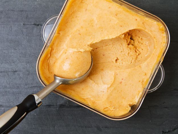 Awesome peach sorbet with almost no work—you won't even need to peel the fruit.