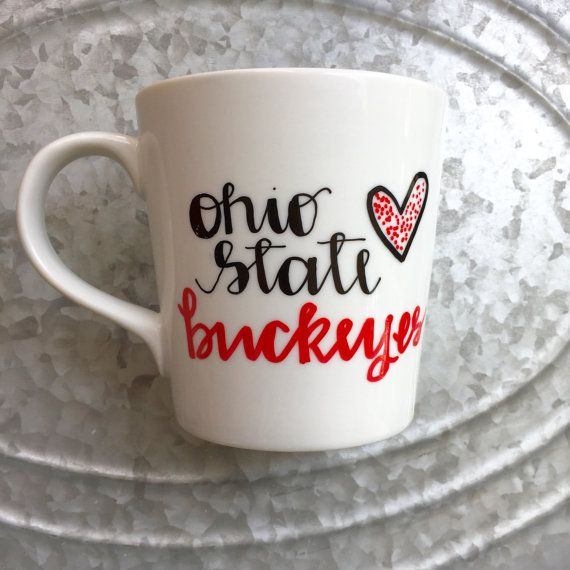 Ohio State Buckeyes  Ohio State Coffee Mug  by MorningSunshineShop