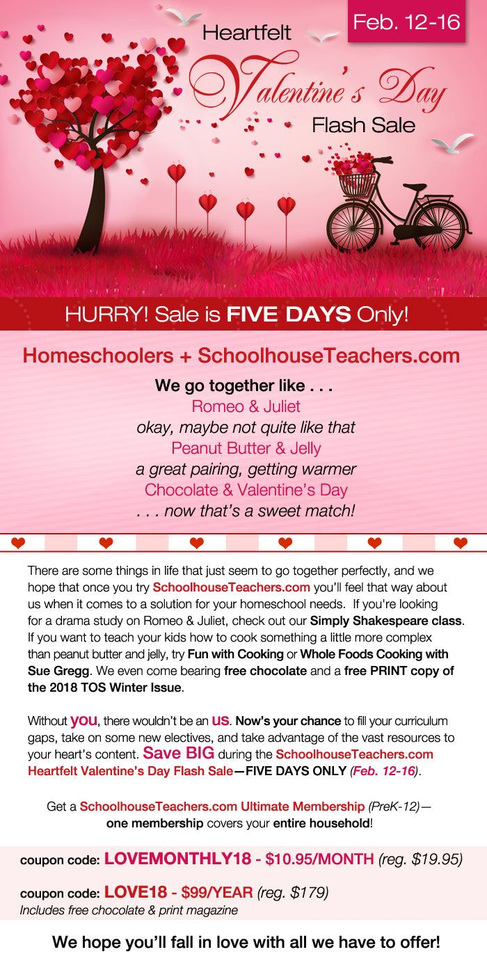 1118 best homeschool deals n steals images on pinterest free 5 day valentines day flash sale yearly option 99 monthly option 1095 one fandeluxe Choice Image
