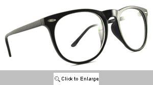 Scholar Round Wayfarers Glasses - 386 Black