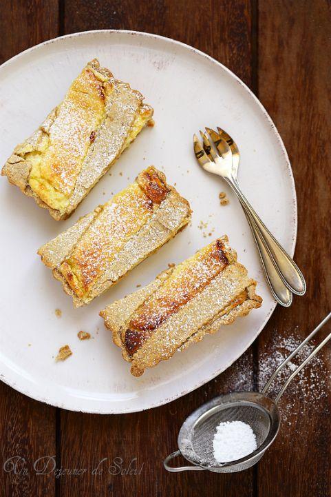 Tarte (crostata) à la ricotta, crème pâtissière et Limoncello
