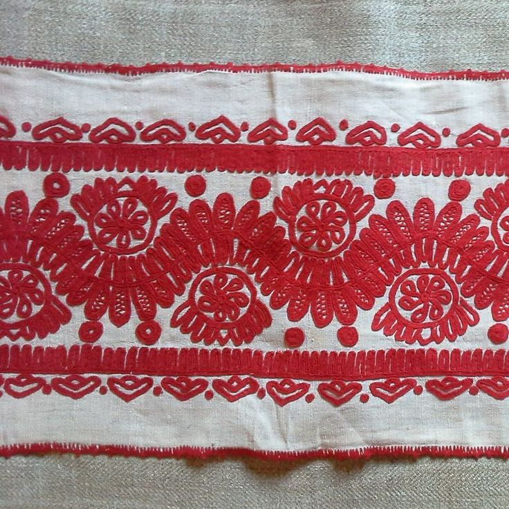 Antique wall hanging from the Kalotasezg region of Transylvania Embrodiered in red cotton on home loomed vintage cloth Embroidered in writing stitch