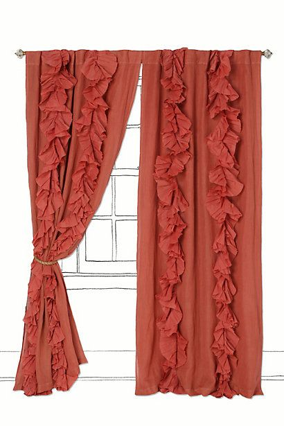 curtains: Wandering Pleated, Pleated Curtains, Coral Curtains, Cute Curtains, Master Bedrooms, Living Rooms Curtains, Girls Rooms, Bedrooms Curtains, Ruffles Curtains