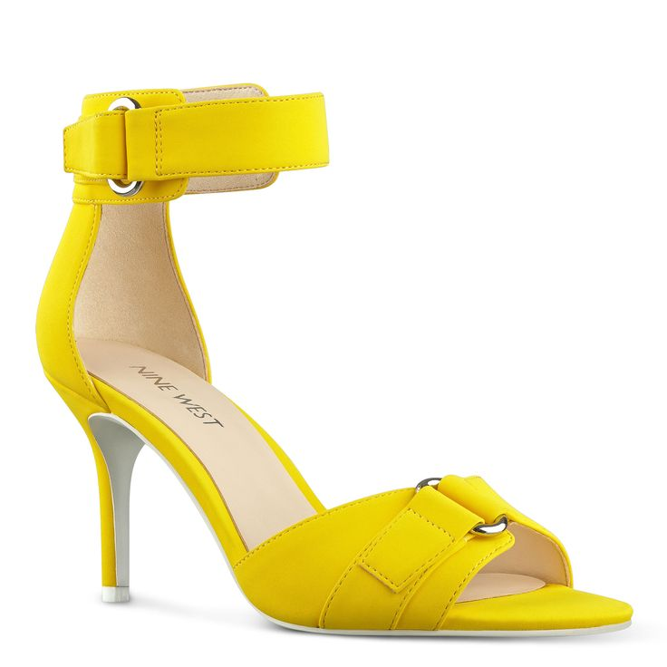 Yellow Gainey Open Toe Sandals | Nine West