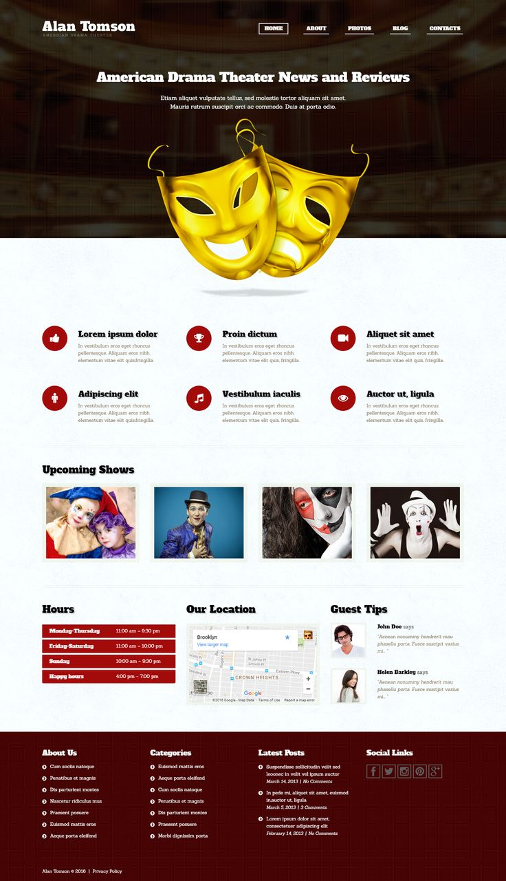 Mejores 1511 imágenes de WordPress Themes en Pinterest   Behance ...
