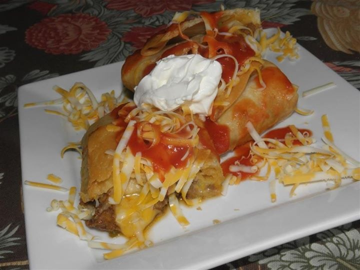 Shredded beef chimichangas | entree vous... | Pinterest