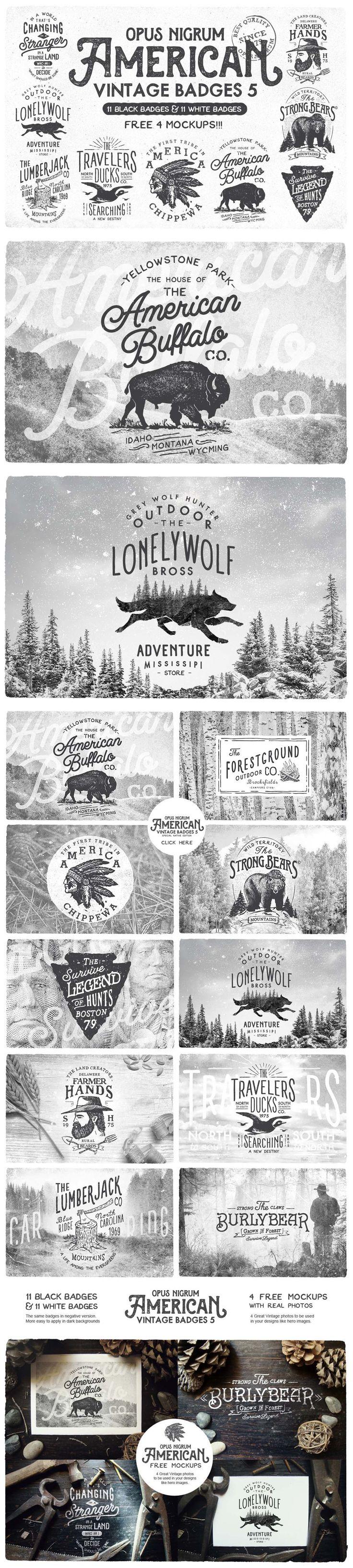 American Vintage Badges #design Download: https://creativemarket.com/OpusNigrum/163961-American-Vintage-Badges-5?u=ksioks