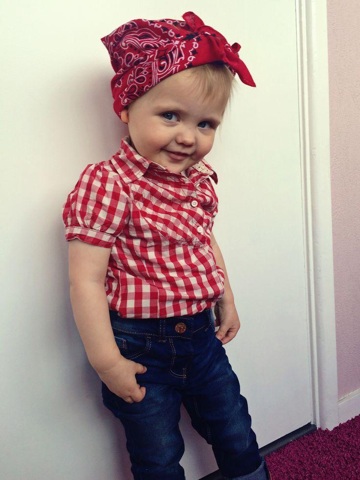 Cute rockabilly baby girl/toddler #rockabilly #photo #idea #toddler