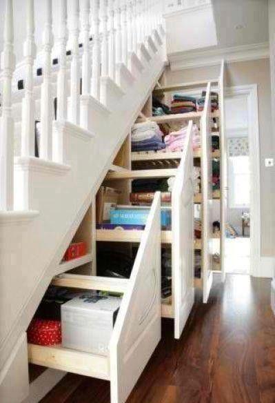Full utnyttelse av plassen under trappa :-D  Foto: Architecture and interior design