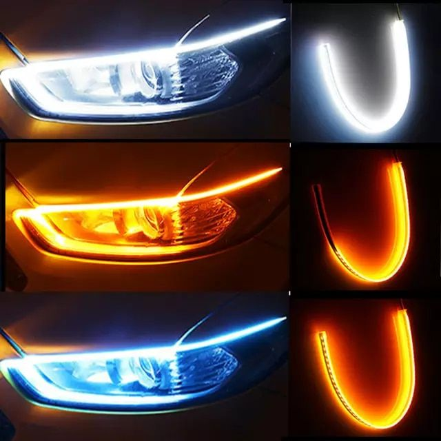 Online Shop 1pc Newest Cars Drl Led Daytime Running Lights Auto Flowing Turn Signal Guide Strip Headlight Assembl In 2020 Cute Car Accessories Running Lights Cute Cars