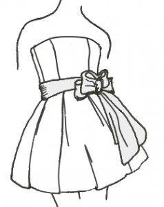 Как сшить платье без бретелек