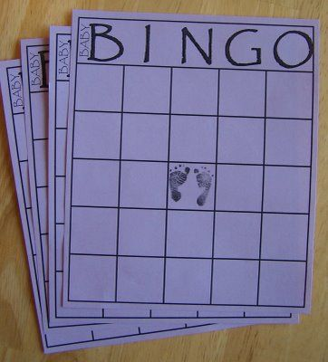 Sometimes Creative: Baby Shower Bingo Game