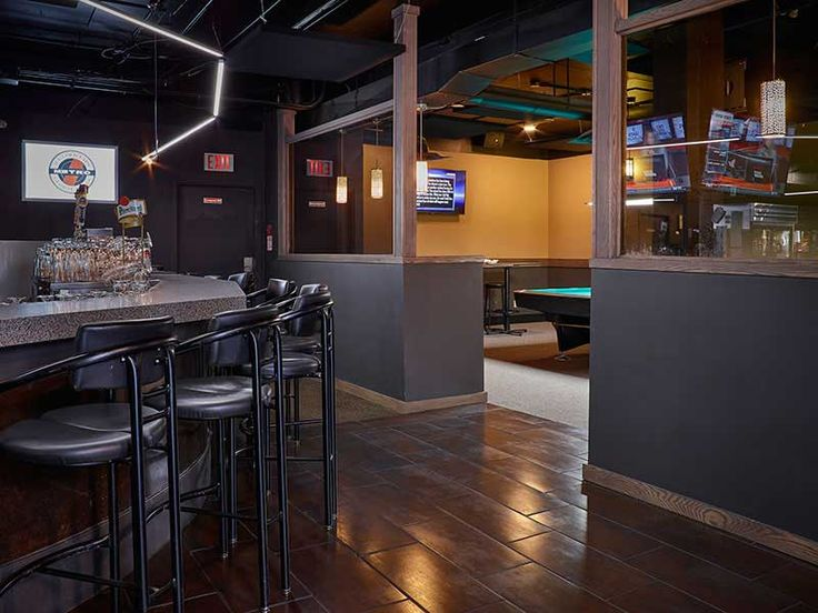 Metro Billiards   Semi-private space has 2 pool tables and can host up to 35-40 people for a standing reception.