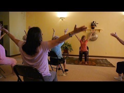 1 Hour Energizing Chair Yoga to Infuse Pep Into Your Day! With Sherry Zak Morris - LOVE her chair Sun Salutation