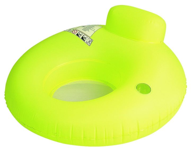 """75"""" Orange and Yellow Tropical Sun and Palm Tree Inflatable Air Mattress Swimming Pool Raft Float"""