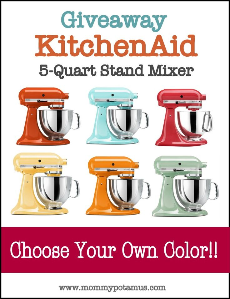 GIVEAWAY: KitchenAid Artisan 5-Quart Stand Mixer ($350 Value)   The Mommypotamus   organic SAHM sharing her family stories and recipes