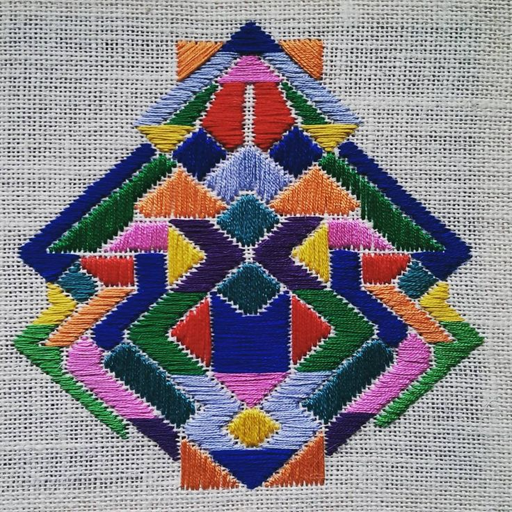 """#embroidery #needleart #needlepoint #color #colourful #dspattern #geometry…"