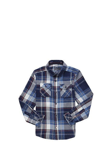 Tesco direct: F&F Indigo Yarn Checked Shirt