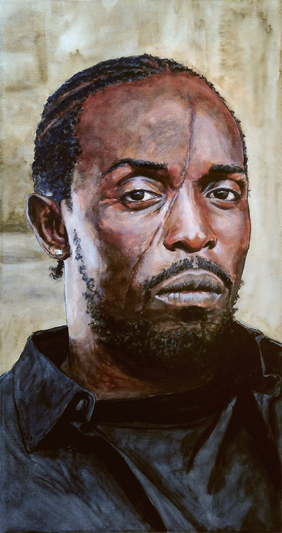 the wire....  Omar One of the best characters on TV.......ever