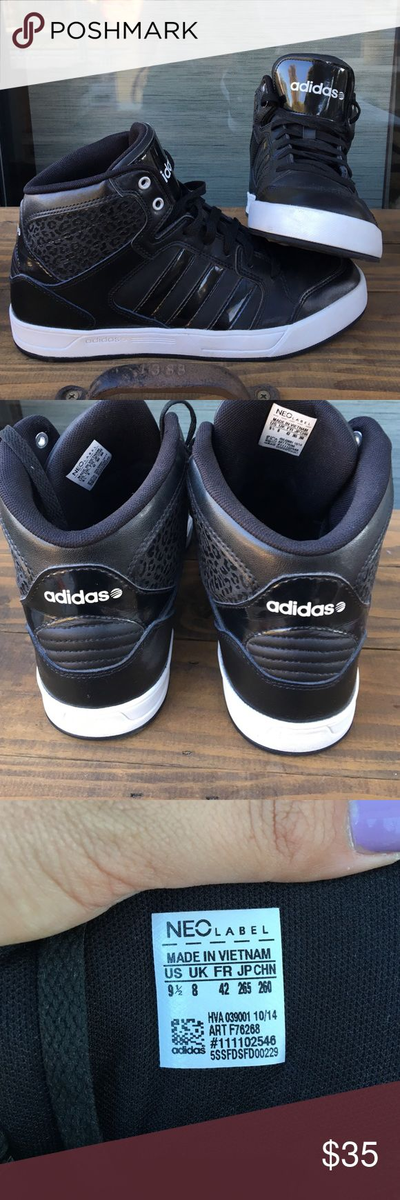 Adidas Neo High Tops 9.5 Lightly used Adidas Neo Ortholite high tops! Size 9.5 adidas Shoes Sneakers