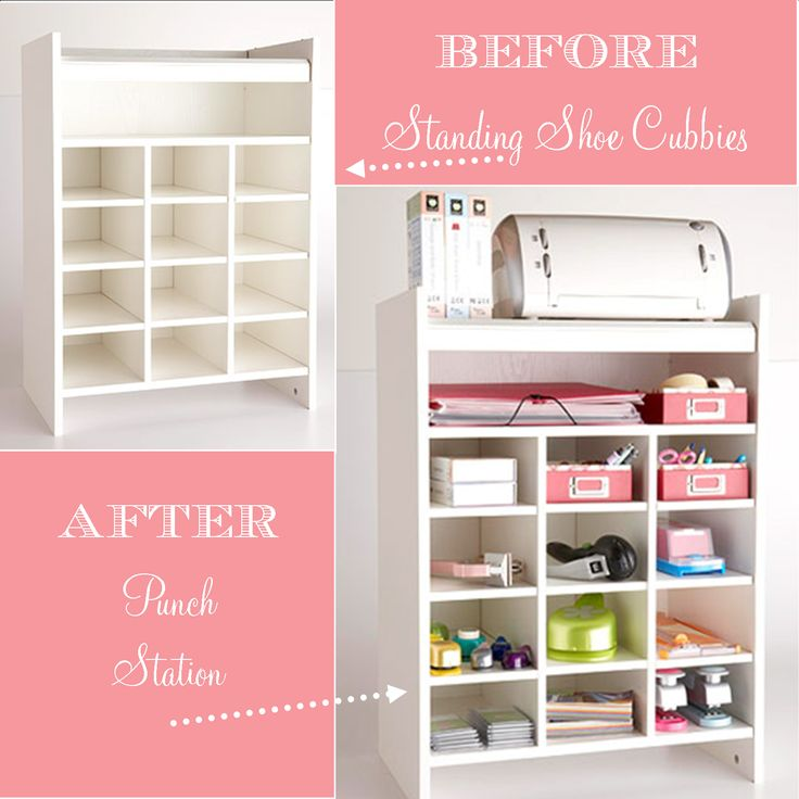 Shoe Cubby turned Craft Storage