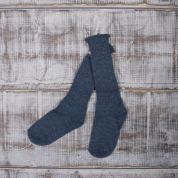 Blue wool/nylon socks - NAQP