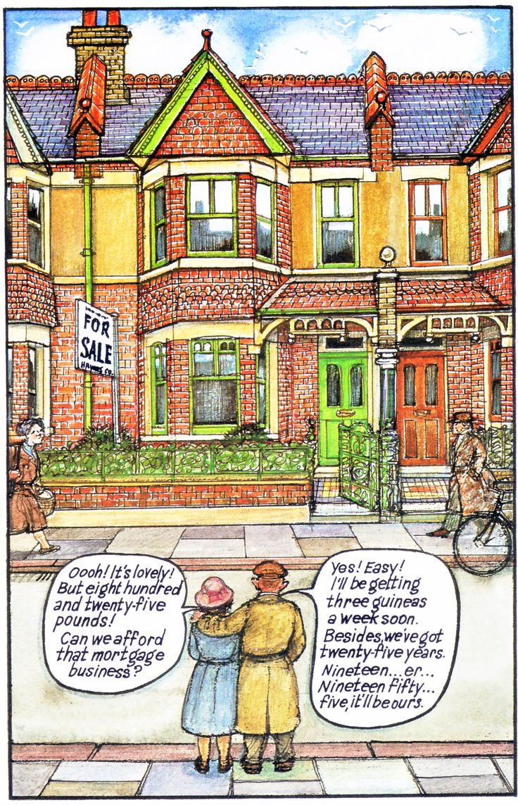 Raymond Briggs - Ethel & Ernest A True Story (about his father and mother) - They buy their house fro £825 in 1930 (p.10 - compare with nos. 8, 9 & 17) (3 of 19)